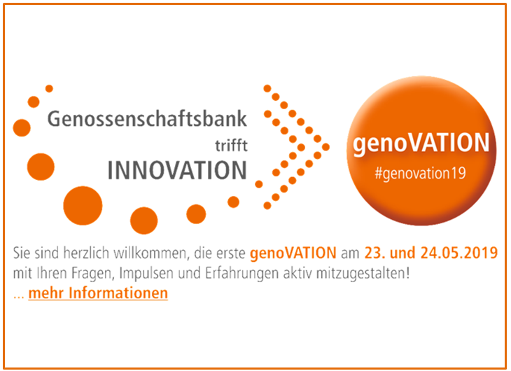 genoVATION 2019 - Genossenschaftsbank trifft Innovation